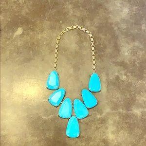 Turquoise large 6 stone Kendra Scott necklace